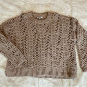 Madewell Windemere Pointelle Crochet Sweater XL